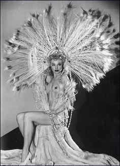 Lili St. Cyr (aka. Marie Van Schaack) and her headdress