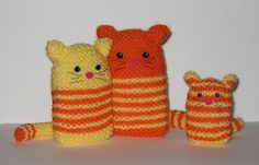 "Cats - Free Knitting Pattern - PDF File ( English and Dutch) click "" download "" or "" free Ravelry download "" here: http://www.ravelry.com/patterns/library/cats-3"