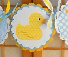 Baby Shower Banner Rubber Ducky Baby Boy by OneFantasticParty Baby Shower Images, Baby Shower Duck, Rubber Ducky Baby Shower, Baby Shower Themes, Shower Ideas, Rubber Ducky Party, Rubber Ducky Birthday, Baby Shower Centerpieces, Baby Shower Decorations