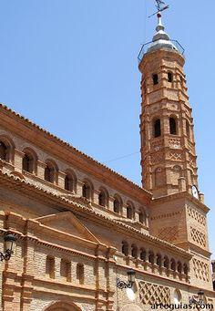 Iglesia mudéjar de Paniza Zaragoza España.