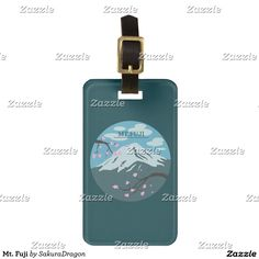 Mt. Fuji Luggage Tag #mtfuji #fuji #japan #sakura #cherryblossoms