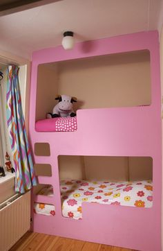 Modular Children Bunk Bed Without Sharp Corners and With Integrated Safety Rails | Kidsomania