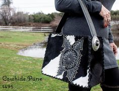 More one of a kind cowhide purses at our etsy store!