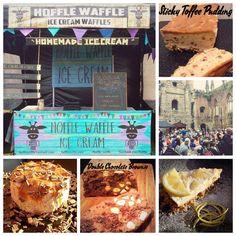 Hoffle Waffle Sticky Toffee, Chocolate Brownies, Waffles, Goodies, Ice Cream, Bread, Homemade, Breakfast, Food