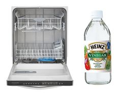 Run a dishwasher cycle with a cup of vinegar added to your empty dishwasher. You can just pour it right into the bottom of the dishwasher. This will clean out any remaining food residue and keep it smelling fresh.