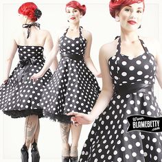 Pair this beauty with matching pumps and a floral hair accessory for a breathtaking rockabilly look! #blamebetty #pinup #dress