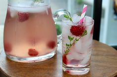 RASPBERRY THYME ROSE PITCHER SANGRIA. Make this delicious pitcher cocktail that's just sweet enough, using raspberries and dry Rosé . http://www.today.com/recipes/raspberry-thyme-ros-pitcher-sangria-t97711