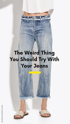 We know this sounds weird—but trust us on this one. Here's why you should consider freezing your jeans.