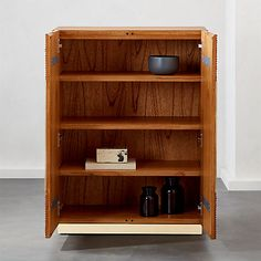 EmilioRattanCabinetROS19_1x1 Entryway Cabinet, Wooden Cabinets, First Home, Rattan, Decor Styles, Armoire, Bookcase, Shelves, Bar