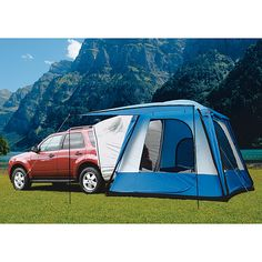 Sportz SUV Tent - I have one - it can also be used as a stand alone dome tent.  Will try it this summer attached to the vehicle.