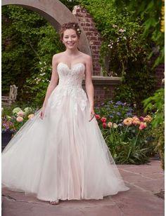 A-linie Glamouröse Exklusive Brautkleider aus Tüll mit Applikation