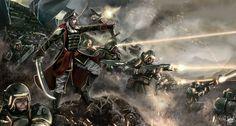 Ad Bellum by Luzbelserk on DeviantArt Warhammer 40k Memes, Warhammer Art, Warhammer 40000, Warhammer Imperial Guard, 40k Imperial Guard, Imperial Army, War In Space, Sci Fi Armor, Military Pictures