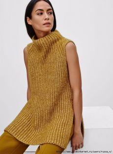 Sweaters for Women Knitwear Fashion, Knit Fashion, Look Fashion, Fashion Ideas, Moda Crochet, Knit Crochet, Vest Pattern, Knit Vest, Mode Outfits