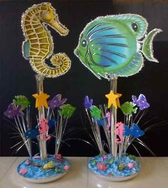 Under The Sea Centerpieces Fish Party Decoration Just REDUCED Only $20 00 Each | eBay