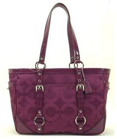 Coach Op Art Sateen Signature Gallery Tote Handbag « Holiday Adds