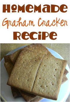 Homemade Graham Crackers Recipe! ~ at TheFrugalGirls.com #crackers #recipes