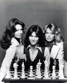 charlie angels.   One of my favorite tv shows as a kid .   Could only watch it if mom watched it with me because she thought it was too 'racy' for me and my younger  sister to watch by ourselves!!