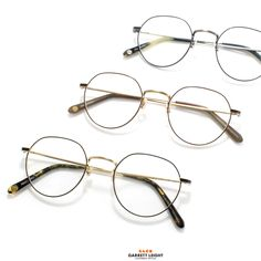 The Garrett Leight - Robson Eyeglasses is a timeless shape with thin metal construction and a distinctive angled top rim. Fake Glasses, Glasses Frames, Optical Eyewear, Fashion Eye Glasses, Prescription Lenses, Eyeglasses, Nerd, Girly, Construction