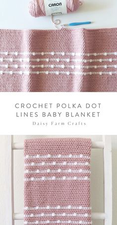 Free pattern crochet polka dot lines baby blanket free crochet patterns baby blanket crochet dot free lines pattern patterns polka Crochet Blanket Patterns, Baby Blanket Crochet, Crochet Stitches, Knitting Patterns, Cowl Patterns, Afghan Crochet, Crochet Blankets, Crochet Granny, Stitch Patterns