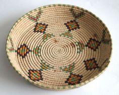 Native American Basket Weaving | Vintage Native American Indian Basket. | Art: Weaving