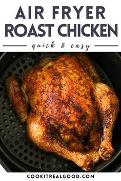 Air Fryer Recipes Whole Chicken, Air Fryer Recipes Low Carb, Air Fryer Dinner Recipes, Roast Chicken Recipes, Grilling Recipes, Whole Chicken Marinade, Whole Roast Chicken Recipe, Easy Roast Chicken, Whole Roasted Chicken