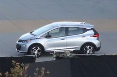 Production 2017 Chevrolet Bolt. Caught Completely Undisguised EV takes design cues from Volt sibling.