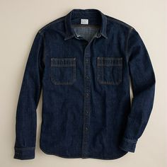 Selvedge indigo denim shirt - work shirts - Men's shirts - J.Crew