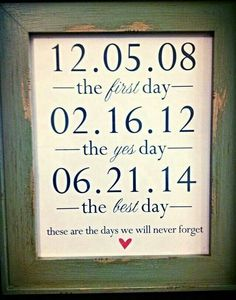 The days ♥