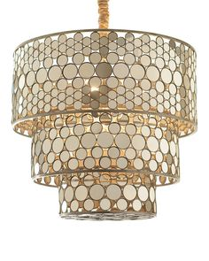 Three-Tiered Chandelier. Very cool!