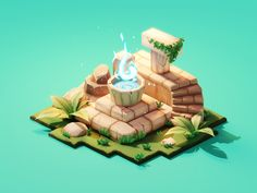 Ancient Altar designed by Roman Klčo. Connect with them on Dribbble; Ancient Egypt History, Ancient Egyptian Art, Ancient Aliens, Ancient Greece, Isometric Art, Isometric Design, Low Poly, Classic Rpg, 3d Cinema