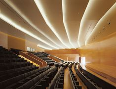 Cool Modern Architecture - Page 40 - SkyscraperPage Forum Auditorium Architecture, Auditorium Design, Spanish Architecture, Contemporary Architecture, Building Museum, Lecture Theatre, Lounges, Facade Lighting, Church Interior