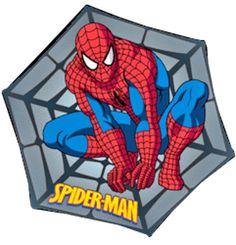SPIDERMAN WEB SHAPE KIDS RUG 100X100 NONSLIP & WASHABLE