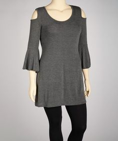 Love this Charcoal Cutout Tunic - Plus on #zulily! #zulilyfinds