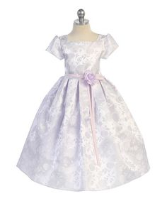 Look what I found on #zulily! Lavender Floral Bow A-Line Dress - Toddler & Girls #zulilyfinds