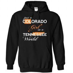 (COJustCam002) Just A Colorado Girl In A Tennessee Worl - #unique gift #retirement gift. CHEAP PRICE:  => https://www.sunfrog.com/Valentines/-28COJustCam002-29-Just-A-Colorado-Girl-In-A-Tennessee-World-Black-Hoodie.html?id=60505