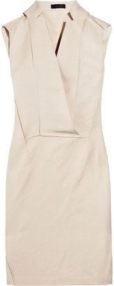Calvin Klein Collection Felton silk and cotton-blend wrap-effect dress