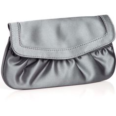 Monsoon New Satin Foldover Clutch Bag ($5.62) ❤ liked on Polyvore