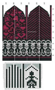 Knitted Mittens Pattern, Crochet Mittens, Crochet Gloves, Knitting Charts, Knitting Socks, Knitting Stitches, Wrist Warmers, Hand Warmers, Knit Stranded