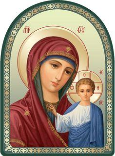 Mother of God of Kazan - Workshop of St Elisabeth Convent - #icon #MotherofGod…