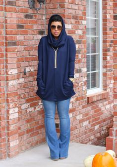 DIY Hooded Tunic + Flared Jeans - Mimi G Style