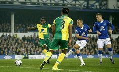 Everton 1 Norwich City 1 (4-3 pens) in Oct 2015 at Goodison Park. Leon Osman scores for Everton, who won on penalties in the League Cup 4th Round.