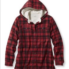 ❤️ LL Bean Fleece Lined Flannel Shirt  Brand new with tags! I own probably a dozen of these, because they are that amazing! LL Bean quality. You can button it up and wear under a vest or leave open and wear like a jacket over a thermal. Women's size medium. Smoke and pet free home. Thanks for looking! L.L. Bean Tops Button Down Shirts