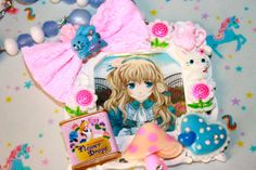 Items I Love by Sherri on Etsy Anime Alice In Wonderland Necklace More to see at www.niftyvintagenecklace.com  or on facebook  @niftyvintagenecklace Kawaii necklaces Whimsical styles fairy lei lolita cosplay and more all the characters from your favorite cartoons and the 80's too.