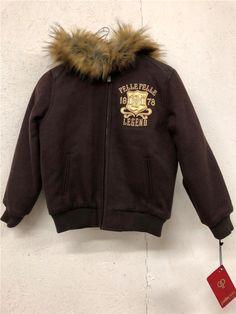 581bcbacd3c1 New Pelle Fur Hood Wool Coat Boys Brown