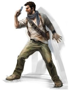 Uncharted Nathan Drake Concept Art - From the creators of Crash Bandicoot came the Uncharted series, which put the studio on the map once again after a somewhat quiet 10 years. The game was entirely different though, with the bright mythical world of Crash a huge contrast to the harsh, realistic, but still bright landscapes of Uncharted. With graphics that were almost photogenic, the game was groundbreaking, and a fan base for the main character, Nathan Drake, became huge.