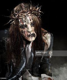 Joey Jordison, #1, of Slipknot, shot in Des Moines, Iowa, 27/06/08 -;