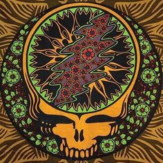 Handmade Grateful Dead Steal Your Face Roses Hippie Tapestry Wall Art Hang Brown Sunflower Tattoo Simple, Sunflower Tattoo Design, Grateful Dead Wallpaper, Grateful Dead Logo, Skulls And Roses, Beach Wall Art, Beautiful Mind, Cool Bands, Tapestry