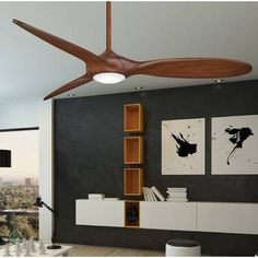 Minka Aire 60 Force 3 Blade LED Ceiling Fan with Remote is part of Bohemian Living Room Ceilings - Best Ceiling Fans, Ceiling Fan With Remote, Ceiling Lights, Ceiling Ideas, Ceiling Fan Makeover, 3 Blade Ceiling Fan, Modern Bedroom Design, Room Lights, Home Decor Kitchen
