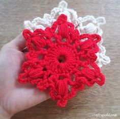 How to crochet a snowflake. This is a great pattern for decorating with,and it's free!!