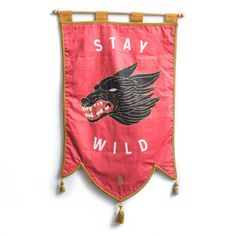 Stay Wild pennant banner flag - Beeteeth